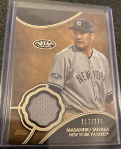 2019-Topps-Tier-One-Relics-T1RMTA-Masahiro-Tanaka-117-375-Yankees