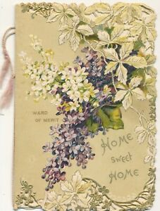 Beautiful-034-Home-Sweet-Home-034-Embossed-Die-Cut-Award-of-Merit-Card-Payne-Poem
