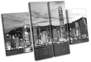 Hong-Kong-Skyline-Skyscraper-City-MULTI-CANVAS-WALL-ART-Picture-Print