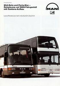 Man Midi Beta Und Porto Star Mit Caetano Aufbau Prospekt 1991 12/91 Reisebus Bus Anleitungen & Handbücher Automobilia