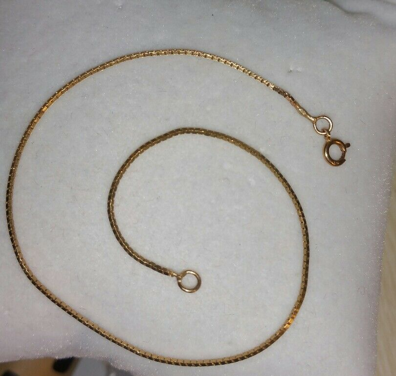 Ross Simons 14k Yellow gold box chain Bracelet   250  8