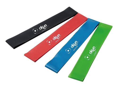 Resistance Bands Loop Set Exercise Sports Fitness Home Gym Yoga Latex Set of 4