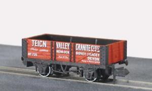 Peco-NR-P440-N-Gauge-5-Plank-Wagon-Teign-Valley-Granite