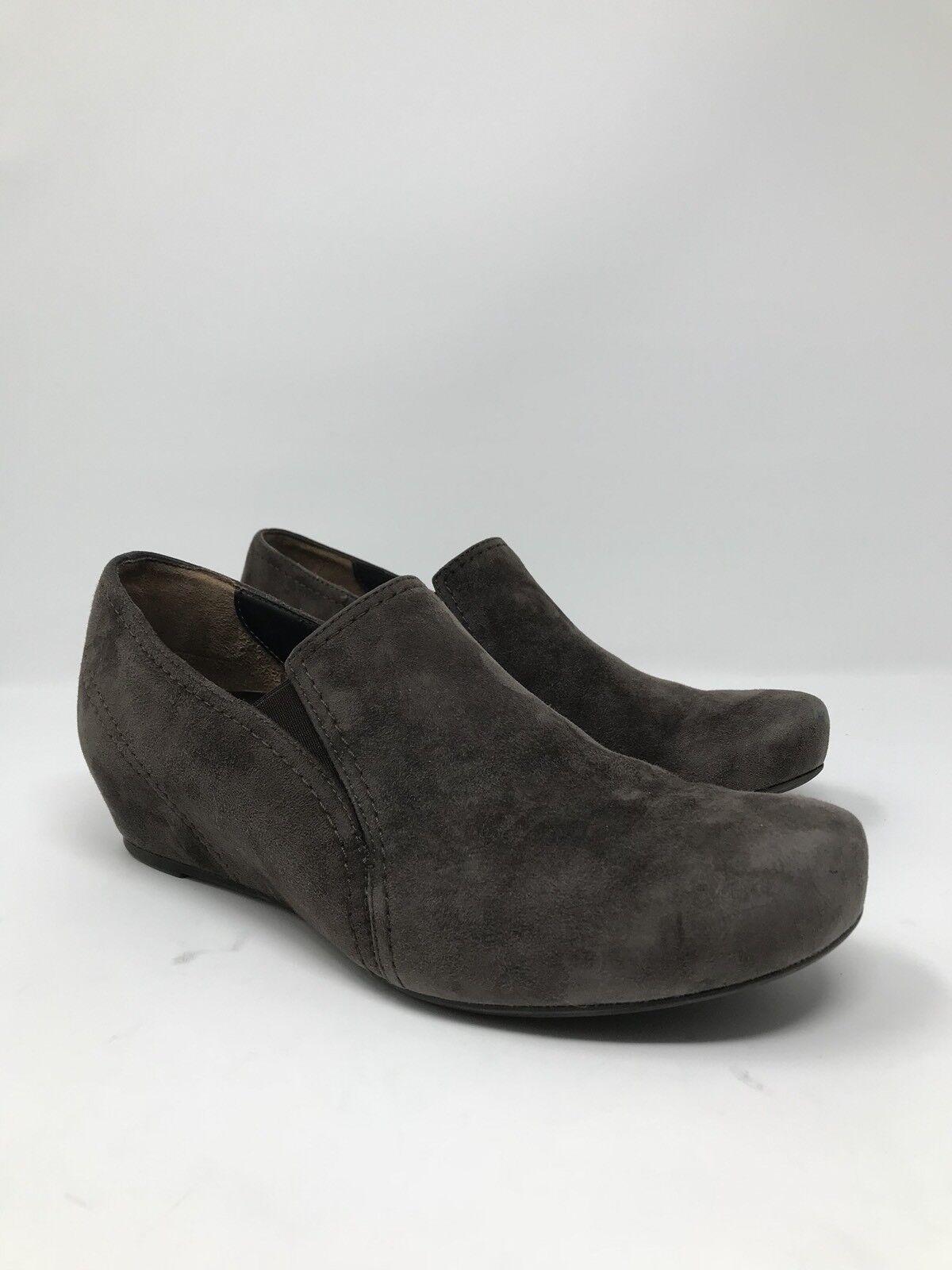 Paul Green Women's Brown Suede Hidden Wedge Heels Booties Size 9 US