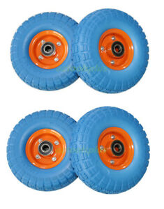 2PC-1PC-4PC-10-034-Trolley-Wheel-Puncture-Proof-20mm-Bearing-SOLID-Double-Hub