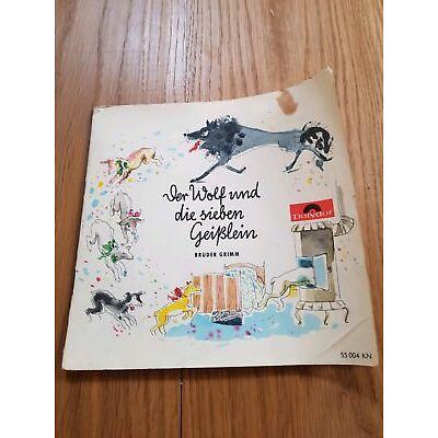 Schellackplatten Der Wolf und die sieben Geißlein Polydor guter Zustand