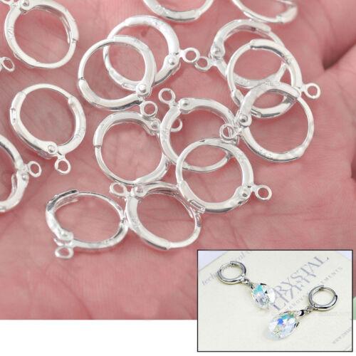 Bulk 925 Sterling Silver Earring Hooks Ear Wire Findings DIY Jewelry Accessory