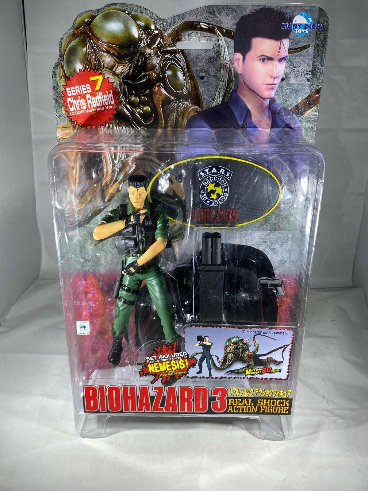 Resident Evil 3 Nemesis Series 4 Carlos Oliveria Moby Dick Toys