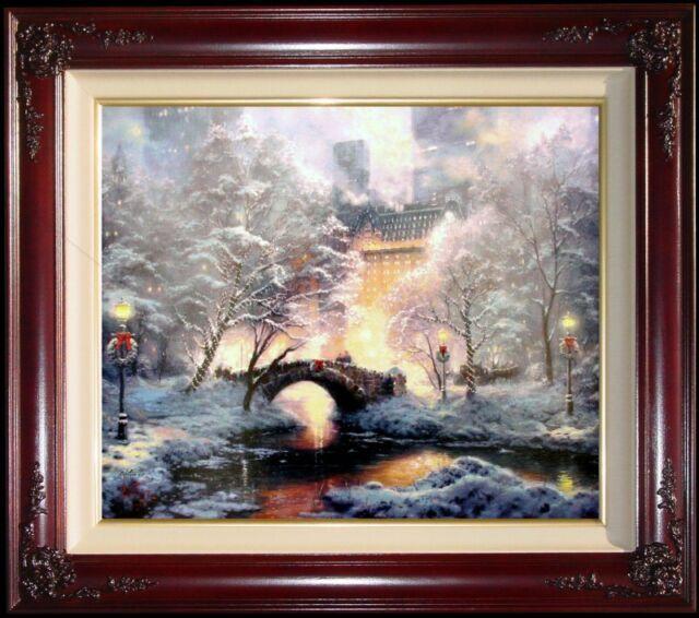 Thomas Kinkade New York Holiday at Central Park 20x24 E/P Christmas Canvas