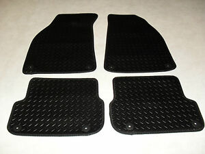 Audi A6 2005-2011  Fully Tailored RUBBER Car Mats Black 340mm