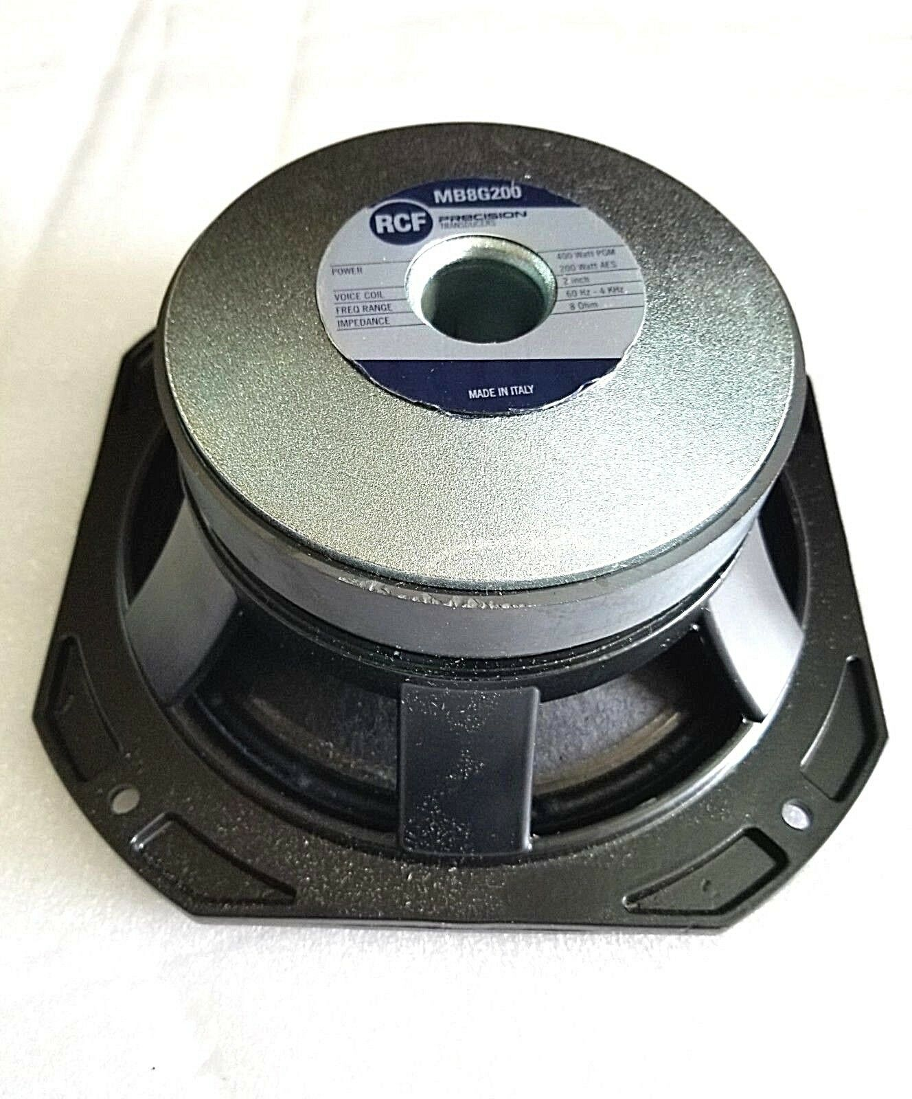 RCF MB8G200 8  LOW FREQUENCY MID-BASS WOOFER SPEAKER (ONE)..