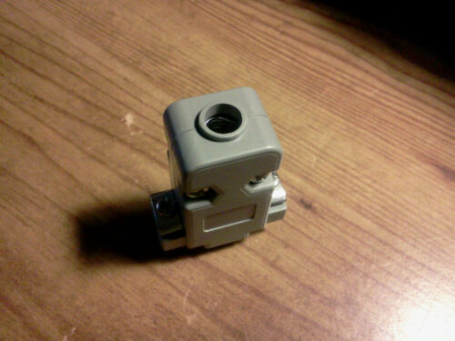 New 9 pin female solder D-sub connector with a plastic hood