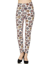 Leggings TC//206 Buttery Soft Always Brushed Black w//Print PLUS SIZE