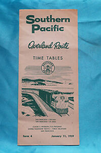 Southern-Pacific-Overland-Route-Timetable-Jan-11-1959