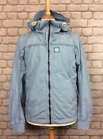 Duck & Cover Mens Uk M Garner Light Ice Blue Jacket Summer Activewear