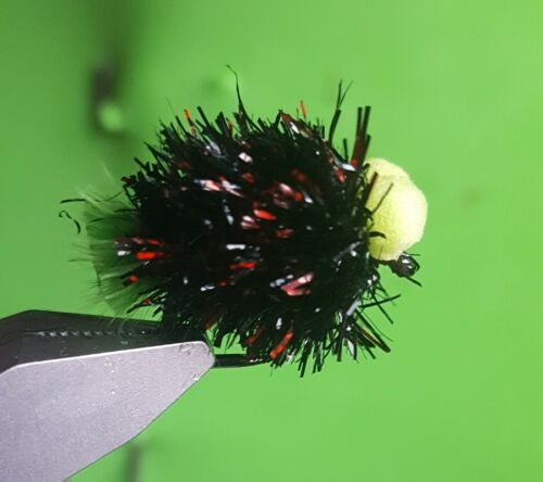 3 x Dennis the Menace Booby Blobs Size 10 Partridge Hooks Comp Bung Flies