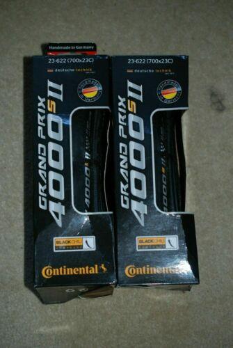 2 x Continental Grand Prix 4000s II Folding Road Bike TyreBlack700 X 23C