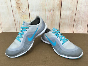 4bf4ec6657058 Nike FLEX TRAINER 6 Womens Size 7.5 Grey Blue 831217-002 Athletic ...