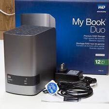 WD My Book Duo Desktop RAID External Hard Drive Enclosure USB 3.0 upto 12TB