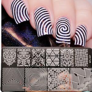 Born pretty nail art stamping plates template illusion image plate image is loading born pretty nail art stamping plates template illusion prinsesfo Choice Image
