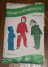 Kwik Sew 335 Girls  Winter Snow Suit Kerstin Martensson Pattern Ages 2 - 6 years