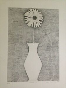 Gregory-Masurovsky-etching-034-Wild-Flower-034-limited-edition-36-125