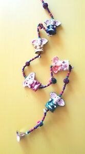 Elephant-Wall-Door-Window-Hanging-Wind-Chime-Accent-Approx-40-034-in-Length