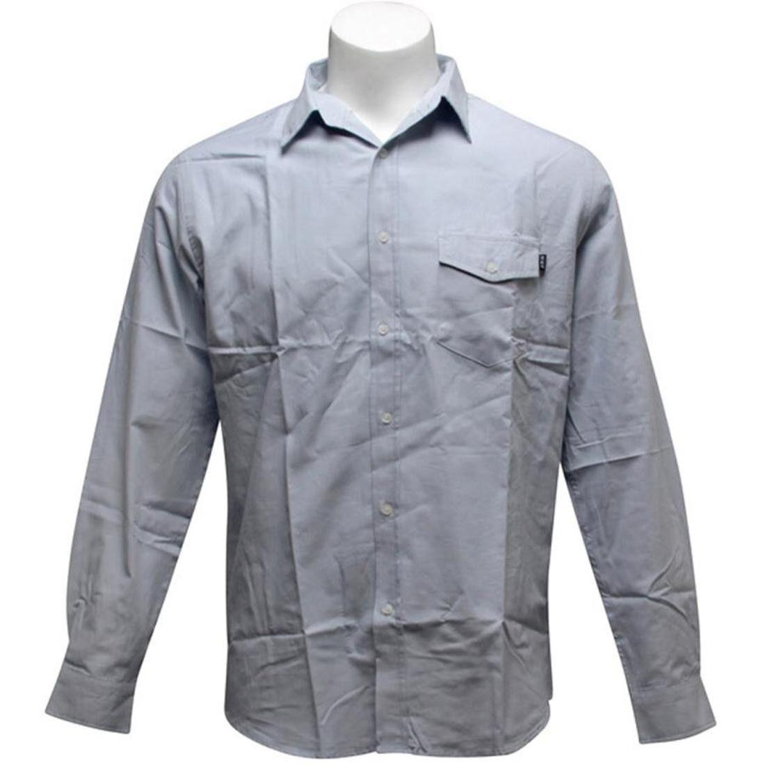 HUFBU03PKXPDB $67.99 HUF Pocket Oxford Woven Shirt powder blue
