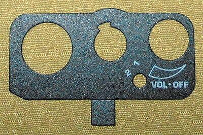 * 1 OEM Motorola HT-1000 Replacement Top Escutcheon Label 2 Channel /& Volume