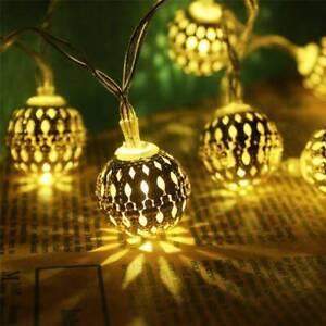 Lumières jardin solaires 20 LED rétro ampoule boule chaîne lumière extérieure ST