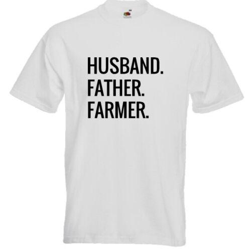 Husband Father FARMER T-Shirt Funny Present Gift Top Dad Birthday Farm Tractor
