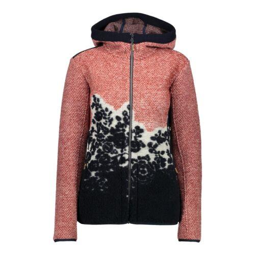 Función CMP chaqueta chaqueta Woman Jacket fix Hood rojo transpirable lana