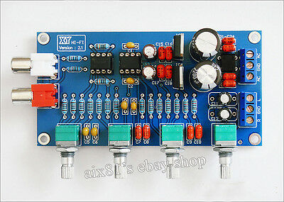 Assembled NE5532 OP-AMP HIFI Amplifier Volume Tone EQ Control Board Preamplifier