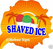 """Shaved Ice Decal  14"""" Snow Cones Concession Trailer Cart Food Truck"""