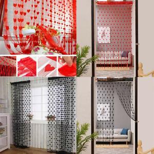 Heart-Shaped-Door-Window-Hanging-String-Curtain-Net-Cute-Kids-Bed-Room-Divider
