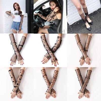 Sun Fashion Driving Extra Long Arm Set  Foot Sunscreen Sleeve Lace Anti UV