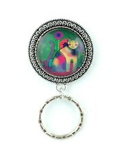 Kaleidoscope Kitty Cat Magnetic Badge Eyeglass Holder, Magnetic Brooch