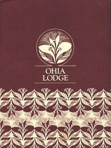 OHIA LODGE Restaurant Menu Sheraton Maunaloa Hawaii