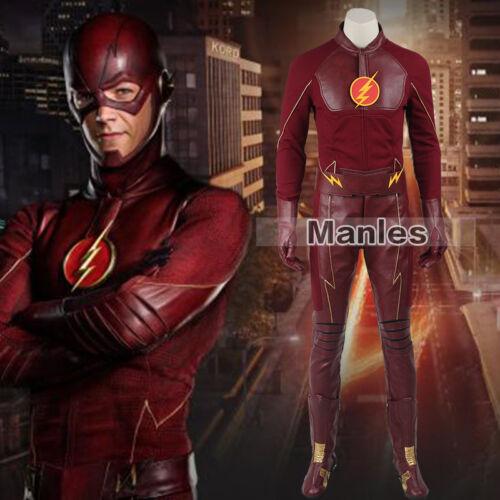 Barry Allen Cosplay Costume De Super-Héros Halloween Tenues Comic avec Costumes Accessoires