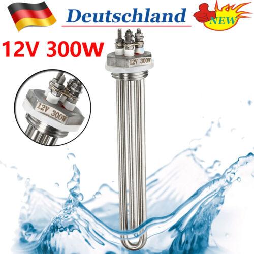 Heizstab Heizungsrohr 12V 300W Wasser Heizelement Eintauchen Heizung Rohr 20cm