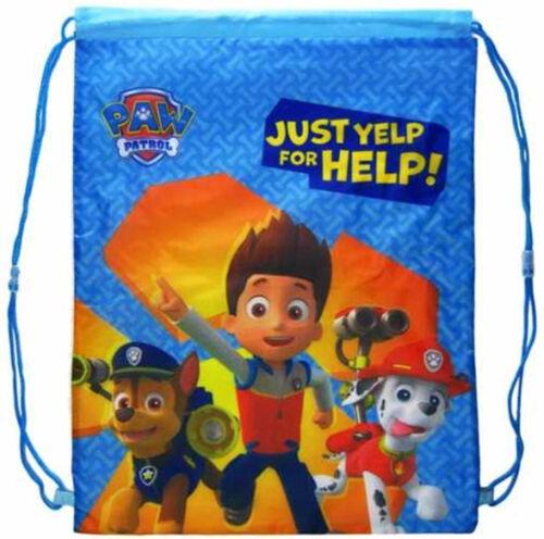 Kids Boys Girls Disney Drawstring Bag Gym Shoe Swim Nursery  PE School Backpack