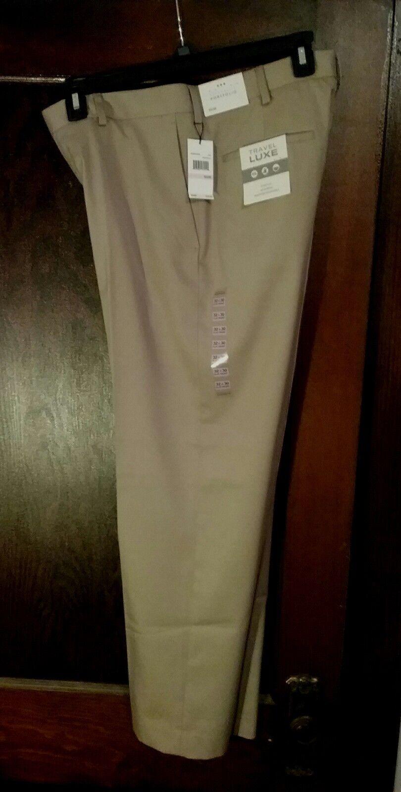 b694111fbd9 New Mens Perry Ellis Stretch Khaki Travel Luxe Non Iron Dress Pants ...