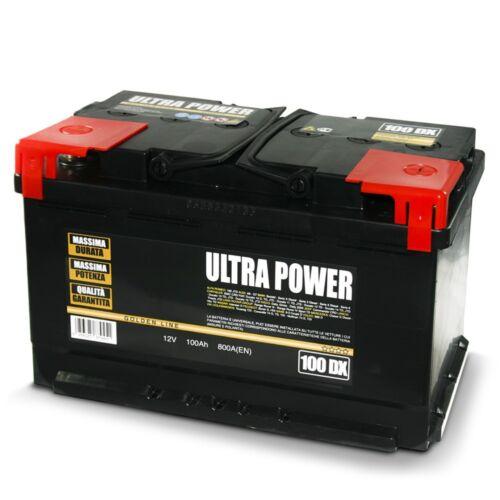 Batteria per auto camper camion furgone 45 50 60 70 80 100 120 ah