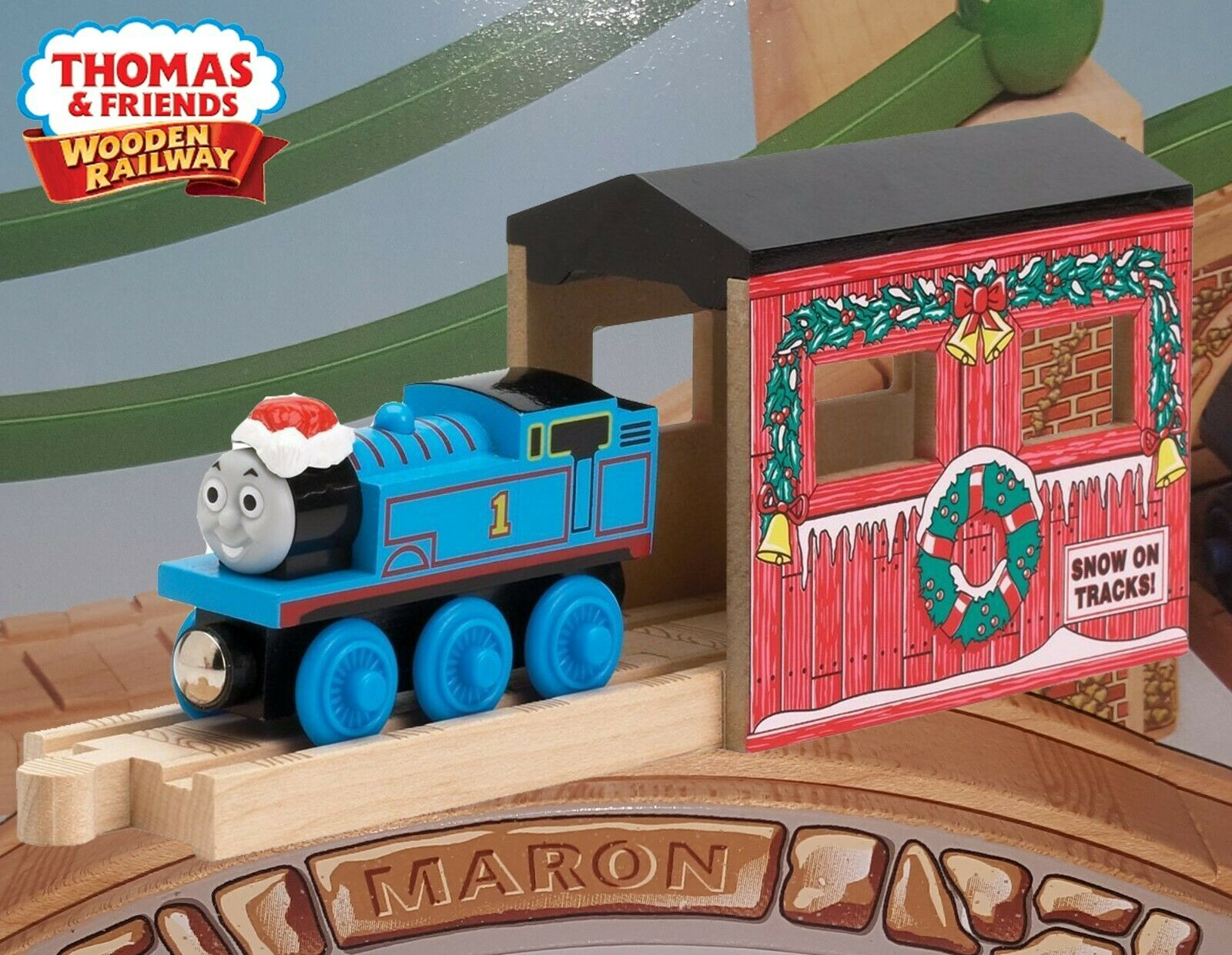 THOMAS AND FRIENDS WOODEN RAILWAY  HOLIDAY TUNNEL  LC99385  CHRISTMAS THOMAS