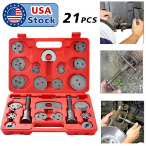 21pcs Heavy Duty Disc Brake Caliper Tool Set Wind Back Kit for Brake Replacement
