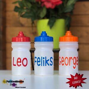 NAMED CHILDS WATER // DRINK BOTTLE DEMAND LID // HANDS FREE 300ML NO LEAKS