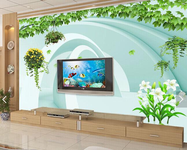 3D Hängende Grün 2377 Fototapeten Wandbild Fototapete BildTapete Familie