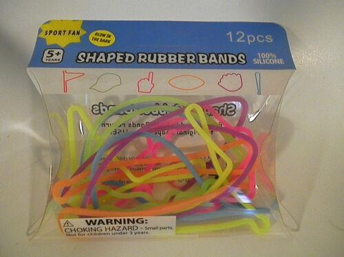 Rubber Bandz Bracelets 1 Dozen Per Pak Fun Bands Silly Shapes 360 Pieces
