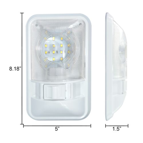 10 New RV Interior Led Ceiling Light Boat Camper Trailer Single Dome 12v  280LM