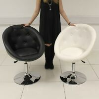 Black / White Tub Chair Leather Style Beauty Salon Hairdresser Barber Chair